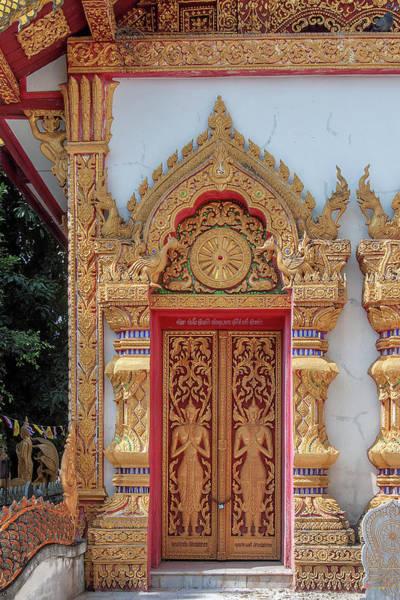 Photograph - Wat Pa Sang Ngam Phra Ubosot Doors Dthlu0589 by Gerry Gantt