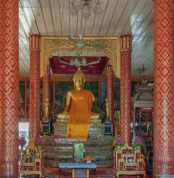 Photograph - Wat Pa Sang Ngam Phra Wihan Interior Dthlu0581 by Gerry Gantt