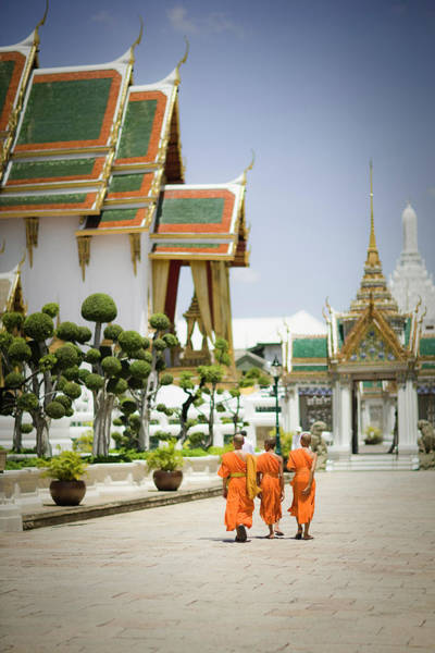 Thai Photograph - Wat Phra Kaew Temple, Bangkok, Thailand by Gavin Gough
