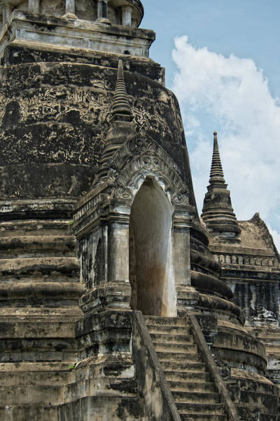 The Philippines Wall Art - Photograph - Wat Phra Si Sanphet Chedi Close Up by Photography By Jeremy Villasis. Philippines.
