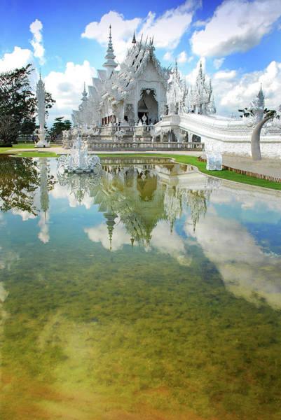 Thai Photograph - Wat Rong Khun @ Thailand  Chiang Rai by Nanut Bovorn