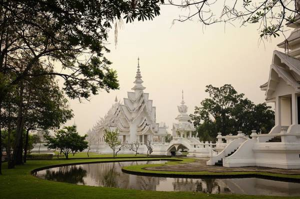 Chiang Mai Province Photograph - Wat Rong Khun Temple Grounds In The by Carlina Teteris