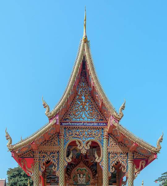 Photograph - Wat Rong Khut Phra Ubosot Gable Dthcm2723 by Gerry Gantt
