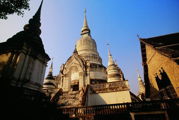 Chiang Mai Province Photograph - Wat Suan Doc Temple In Chiang Mai by Design Pics