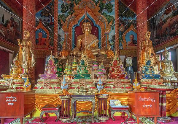 Photograph - Wat Tung Yu Phra Wihan Buddha Images Dthcm2771 by Gerry Gantt