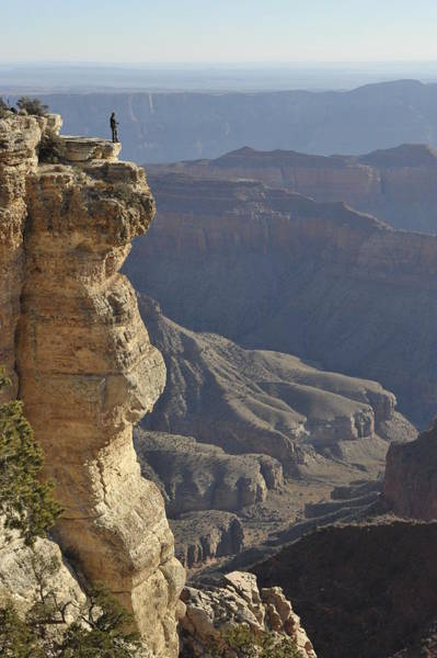 North Rim Photograph - Watching Above Grand Canyon At Cape by Mikhail Rezhepp