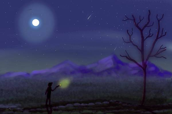 Digital Art - Watching Shooting Stars by Chance Kafka