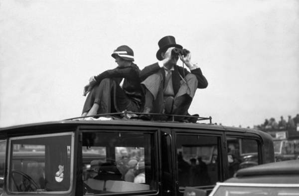 Epsom Derby Photograph - Watching The Derby by Davis