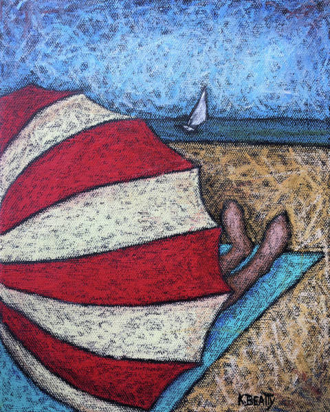 Wall Art - Painting - Watching The Sail by Karla Beatty