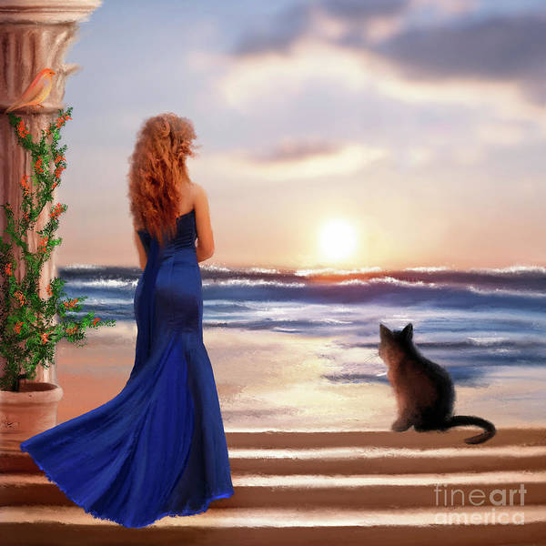 Watching The Sunset Together Art Print