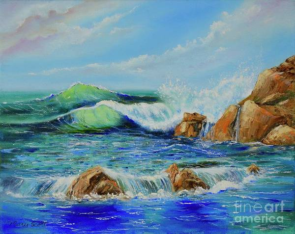 Painting - Watching The Waves by Mary Scott