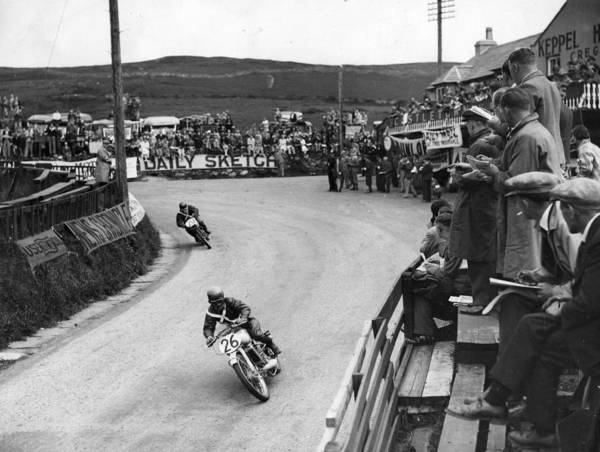 Motorcycle Racing Photograph - Watching Tt Race by Keystone