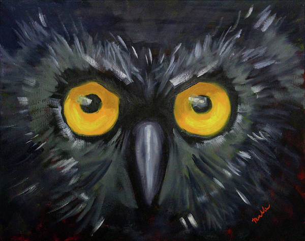 Wall Art - Painting - Watching You by Nancy Merkle