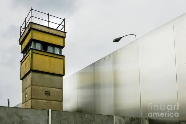 Photograph - Watchtower Next To A Wall On A B by Joaquin Corbalan