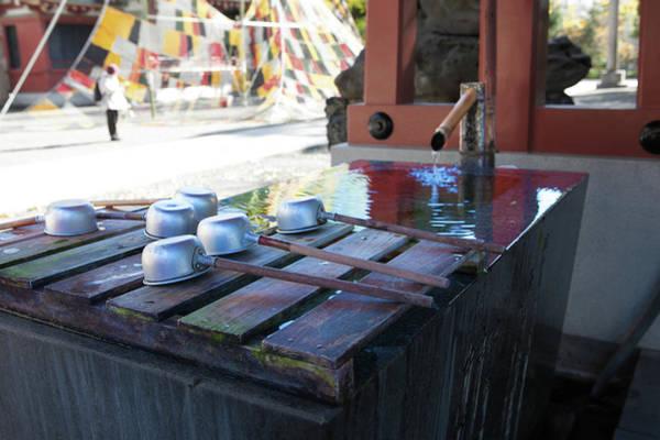 Wall Art - Photograph - water at Senso-ji temples by Kim Vermaat