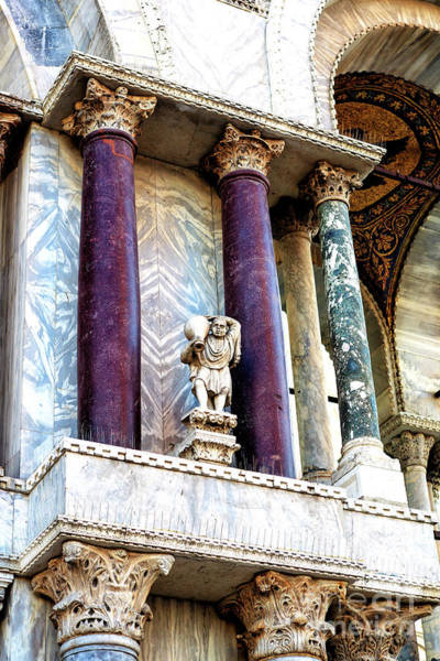 Photograph - Water Carrier Sculpture At The Basilica Di San Marco Venezia by John Rizzuto