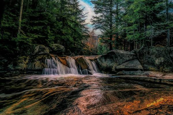 Digital Art - Water Fall Grafton Notch State Park,western Maine. by Rusty R Smith