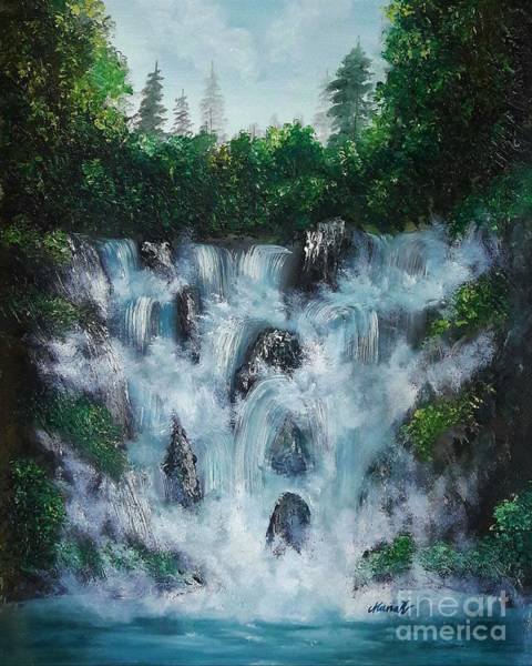 Painting - Water Fall  by Manar Hawsawi