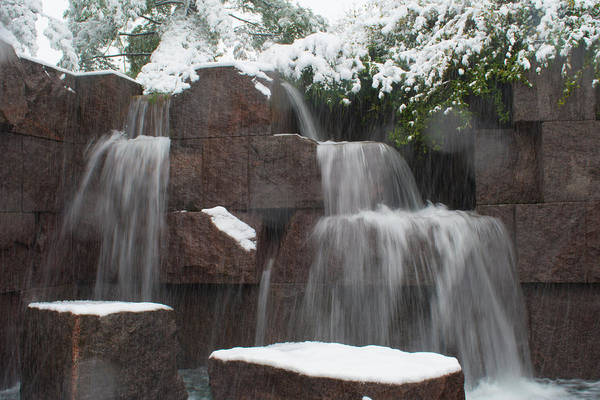 Photograph - Water Falling And Snow by Marvin Bowser