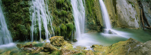 Wall Art - Photograph - Water Falling On Rocks, Limekiln Falls by Panoramic Images
