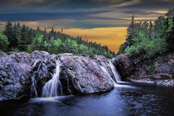 Photograph - Water Falls At The Aguasabon River Mouth By Terrace Bay by Randall Nyhof