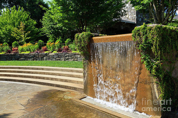 Photograph - Water Fountain At North Carolina Arboretum In Asheville by Jill Lang