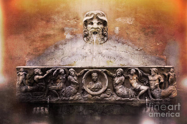 Photograph - Water Fountain - Rome Italy by Mary Machare