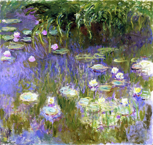 Wall Art - Painting - Water Lilies,1922 - Digital Remastered Edition by Claude Monet