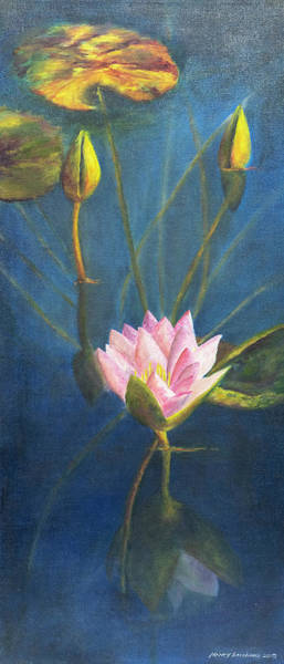 Painting - Water Lily by Nancy Strahinic