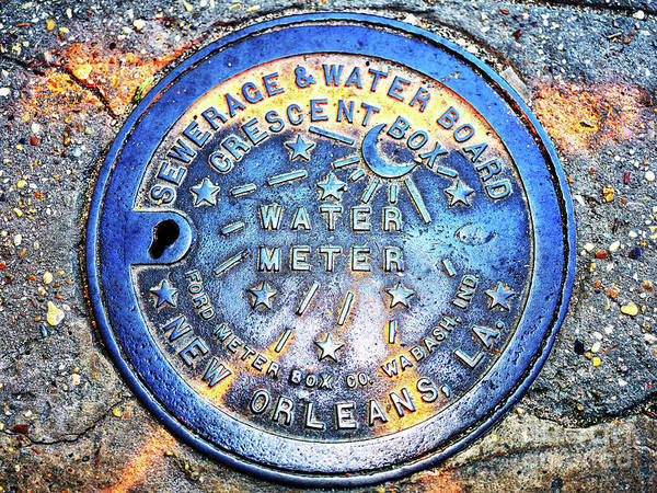 Photograph - Water Meter Colors In New Orleans by John Rizzuto