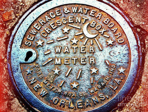 Photograph - Water Meter Style In New Orleans by John Rizzuto