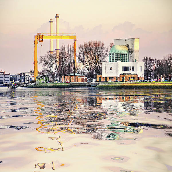 Digital Art - Water Reflection Maastunnel Rotterdam by Frans Blok