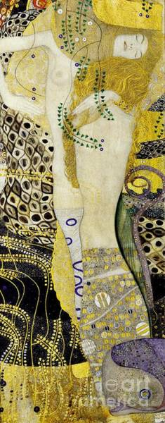 Painting - Water Serpents by Klimt