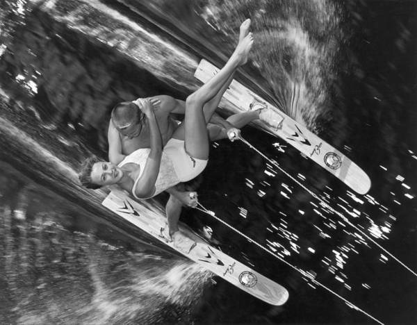 Waterskiing Photograph - Water-ski Demonstration In Florida 1963 by Keystone-france