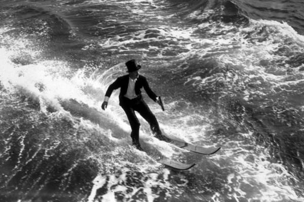 Top Hat Photograph - Water-skiing Tails by A. R. Tanner