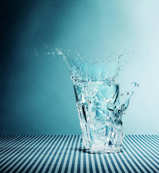 Drinking Glass Photograph - Water Splashing From Broken Glass by Henrik Sorensen