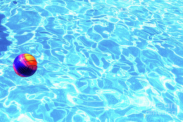 Photograph - Water Sports Ball In A Pool With Fresh Water To Have Fun. by Joaquin Corbalan