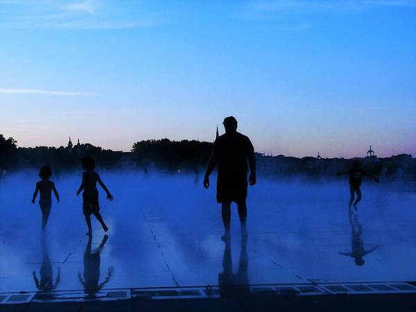 Photograph - Water Spray Play At Sunset by Joan Stratton