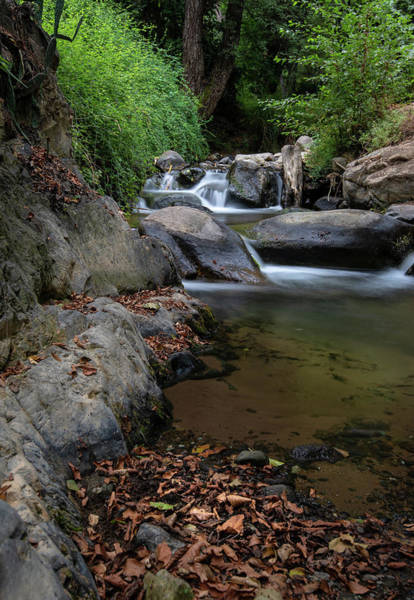 Outdoor Wall Art - Photograph - Water Stream On The River With Small Waterfalls by Michalakis Ppalis