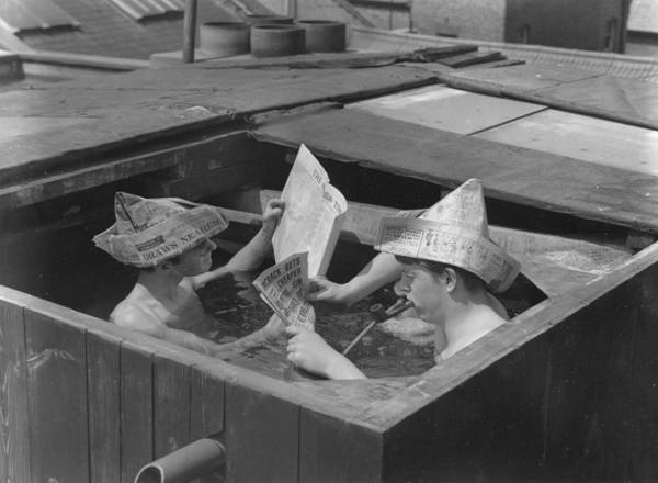 Newspaper Photograph - Water Table by Ron Case