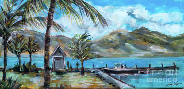 Painting - Water Taxi Dock  by Linda Olsen