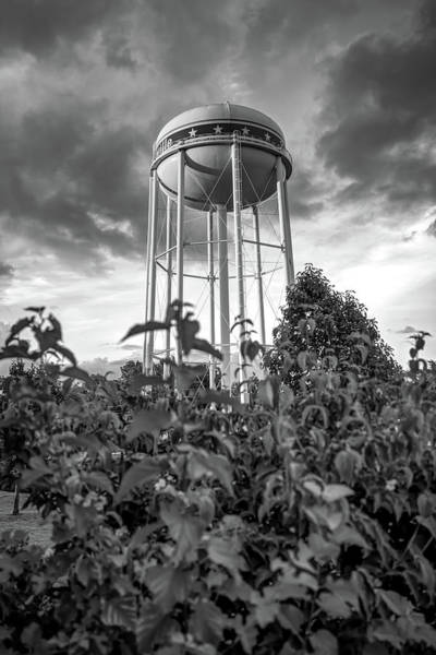Photograph - Water Tower Of Bentonville Arkansas - Monochrome Edition by Gregory Ballos
