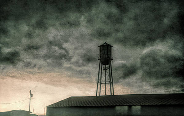 Photograph - Water Tower #textured by Andrea Anderegg