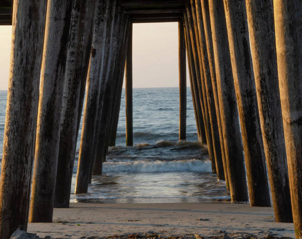 Photograph - Water Under The 14th Street Pier - Ocean City New Jersey by Bill Cannon