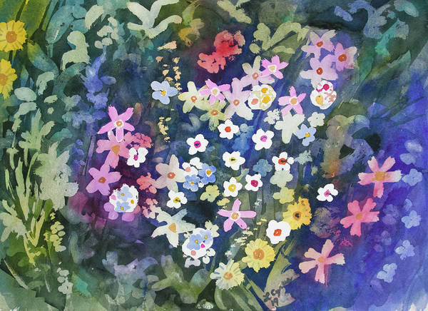 Painting - Watercolor - Alpine Wildflower Design by Cascade Colors