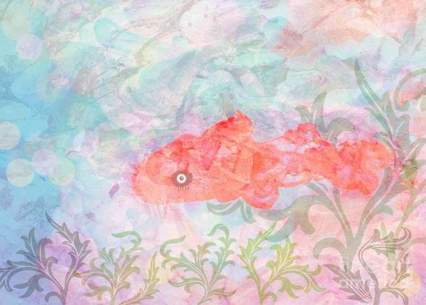 Wall Art - Digital Art - Watercolor Aquarium by Diann Fisher