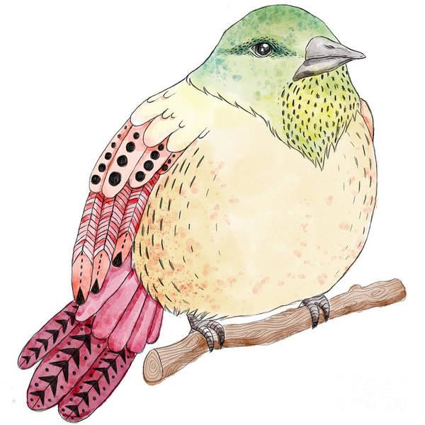 Hand Painted Wall Art - Digital Art - Watercolor Birds Illustration. Hand by Maria Sem