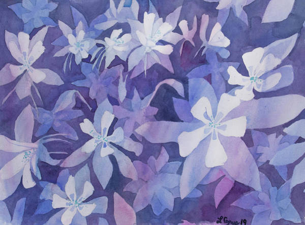 Painting - Watercolor - Blue Columbine Design by Cascade Colors