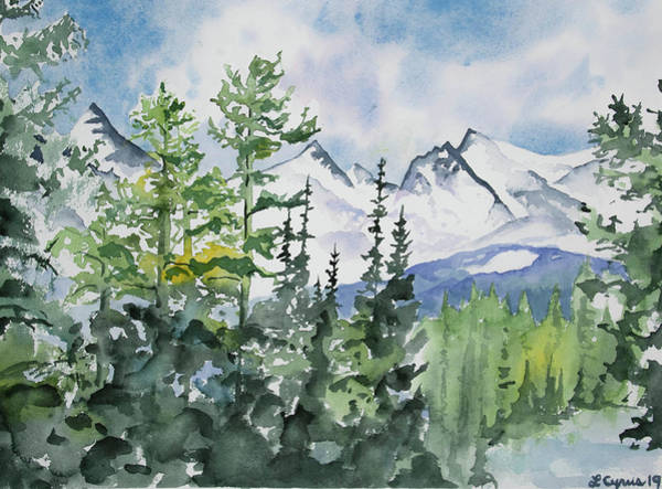 Painting - Watercolor - Brainard Lakes Winter Landscape by Cascade Colors