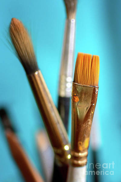 Photograph - Watercolor Brushes by Susan Warren
